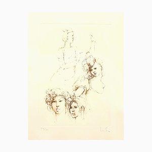 Leonor Fini - Porträts - Original Handsignierte Lithographie 1986