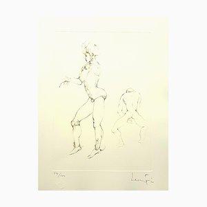 Leonor Fini - Playing - Original Handsignierte Lithographie 1986