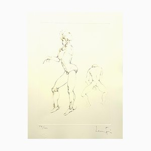 Lithographie Leonor Fini - Playing - Original Handsigned Lithograph 1986