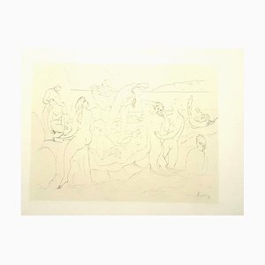 Litografia Pablo Picasso (after) - Bathers - 1946