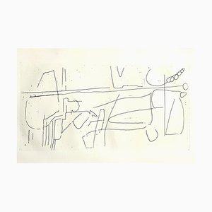 André Lanskoy - Composition - Original Etching 1960