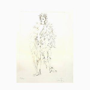 Lithographie Leonor Fini - Angel - Original Handsigned 1986