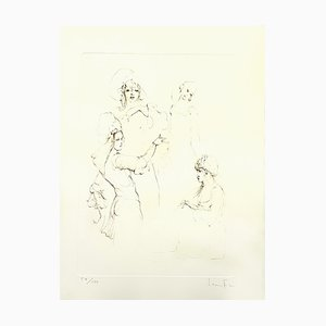 Leonor Fini - Servants - Original Handsigned Lithograph 1986
