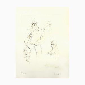 Lithographie Leonor Fini - Servants - Original 1986