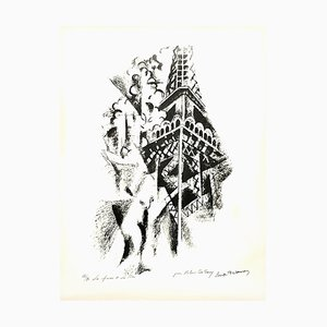 (nachher) Robert Delaunay - La Femme et la Tour - Handsignierte Lithografie Circa 1960