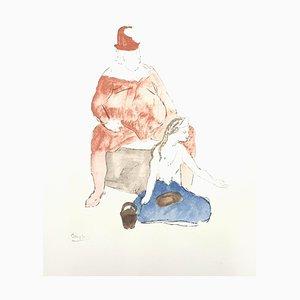 Pablo Picasso (nachher) - Saltimbanque - Lithographie Reproduktion 1946