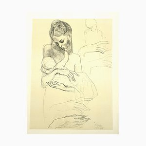 Pablo Picasso (nachher) - Mutter und Kind - Lithografie 1946