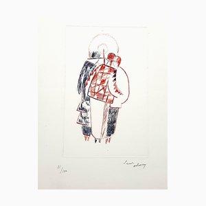 Sonia Delaunay - The Three Graces - Signierte Originale Lithographie C.1960