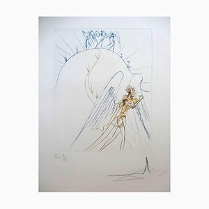 Salvador Dali - The Lost Paradise - Grabado original manuscrito firmado 1974