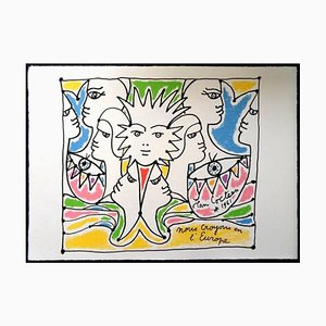 Lithographie Jean Cocteau - Europe's Colours - Original 1961