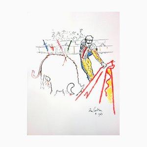Litografia originale 1965 di Jean Cocteau - Torrero