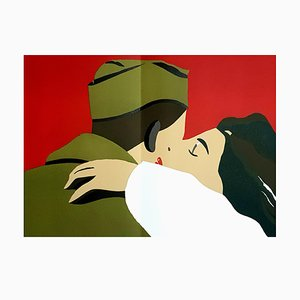 Lithographie Eduardo Arroyo - French Freedom - Original 1984