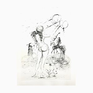 Salvador Dali - Nude, Horse and Death - Original Etching 1967