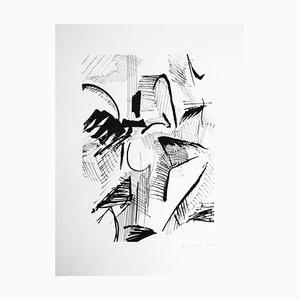 Samuel Latour - Masses et détails n°4 - Original Drawing Circa 2018