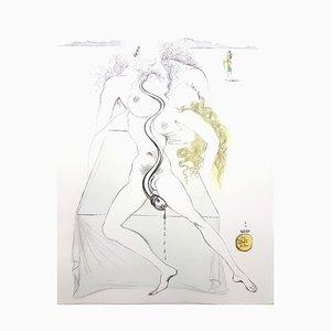 Salvador Dali - Akt Paar - Original Radierung 1967
