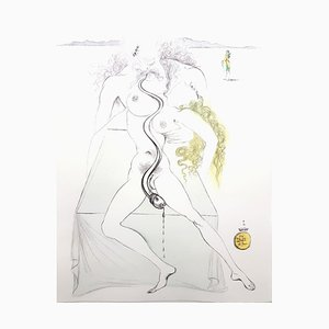 Salvador Dali - Nude Couple - Original Etching 1967