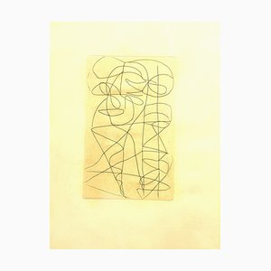 André Lanskoy - Composition - Original Etching 1960