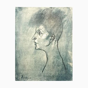Litografia Pablo Picasso (after) - Head of a Woman - 1946