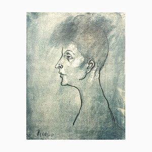 Pablo Picasso (nachher) - Kopf einer Frau - Lithografie 1946