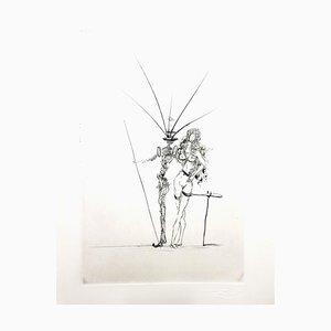 Grabado Salvador Dali - Pareja - Original 1967