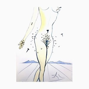 Salvador Dali - Nails on Nude - Original Etching 1967
