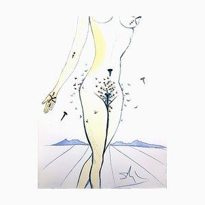 Salvador Dali - Nails on Nude - Original Radierung 1967