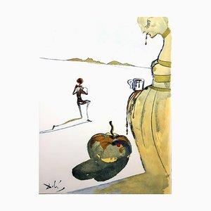 Acquaforte originale del 1967, Salvador Dali - Tazza di cioccolata