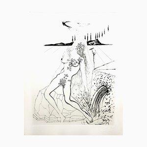 Salvador Dali - Akt am Brunnen - Original Radierung 1967