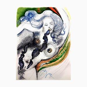 Salvador Dali - Austern und Akt - Original Radierung 1967