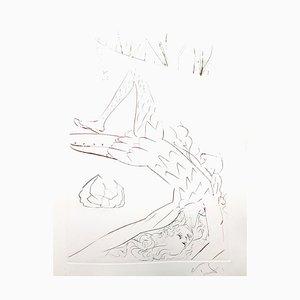 Gravure à l'Eau-Forte Salvador Dalí - Tristan Wounded Original 1970