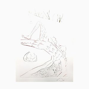 Salvador Dali - Tristan Wounded - Original Etching 1970