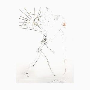 Salvador Dali - The Three Bad Barons - Original Etching 1970