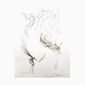 Gravure à l'Eau-Forte Salvador Dalí - Tristan and the Dragon 1970