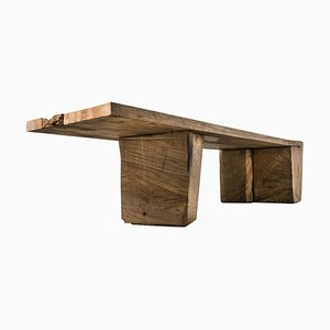 Original Sculpted Table in Oakwood, Denis Milovanov