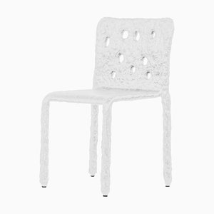 Weißer Skulpturaler Stuhl von Victoria Yakusha