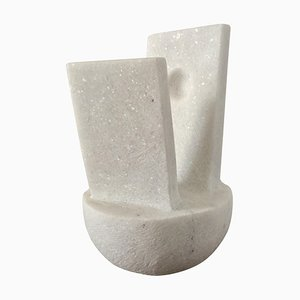 Abstraction, Naxian Marble Shelf Sculpture, Tom von Kaenel
