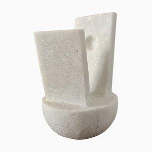 Abstraktion, Naxian Marmor Shelf Sculpture, Tom von Kaenel