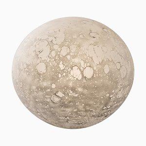 Lampada da tavolo grande Moon in vetro soffiato, scolpita da Ludovic Clément d'Armont