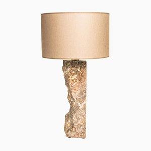 Lampada da tavolo in marmo scolpito di Brajak Vitberg