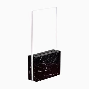 Black Horizon, Glass and Marble Table Lamp by Carlos Aucejo