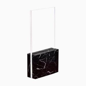 Schwarze Horizon, Glas und Marmor Tischlampe von Carlos Aucejo