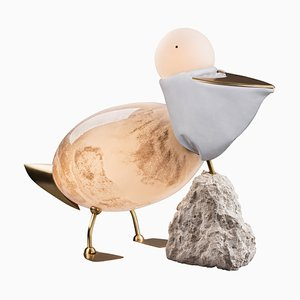 Pelican - Unique Floor Lamp Sculpture, Ludovic Clément d'Armont