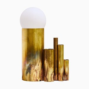 Amalgam II, Brass Table Lamp Signed by Pia Chevalier