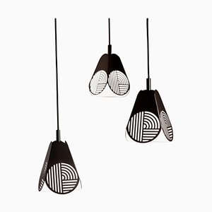 Ensemble of Notic Pendant Lamps by Bower Studio