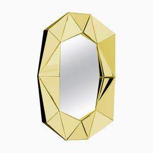 Specchio decorativo dorato