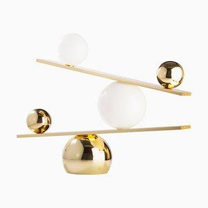Lampada da tavolo Balance in ottone di Victor Castanera