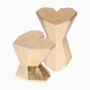 Pair of Queen Heart Side Tables by Royal Stranger