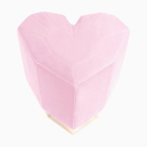 Light Pink Queen Heart Stool by Royal Stranger