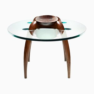 Pragmatism - Walnut Coffee Table Signed by Gildas Berthelot
