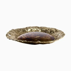Sunflower Brass Hand Sculpted Bowl by Samuel Costantini